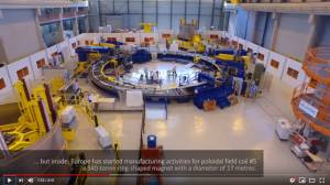 Flying over the ITER site